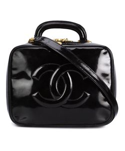 Chanel Vintage | Patent Leather Embossed Logo Lunch Box From Featuring A Varnished Finish Tone Hardware A Top Handle A Detachable Shoulder Strap An Internal Zipped Pocket And An Internal Logo Stamp