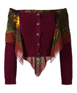 JEAN PAUL GAULTIER VINTAGE   Scarf Detail Cardigan Size