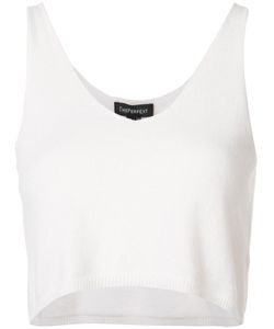 THE PERFEXT | Theperfext Cropped V-Neck Top Xs