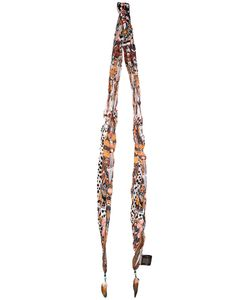 Roberto Cavalli | Feather-Trimmed Printed Scarf