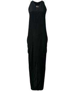 Rick Owens   V-Neck Maxi Dress 40 Acetate/Silk
