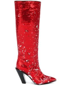 A.F.Vandevorst | Sequinned Pointed Boots Size 38