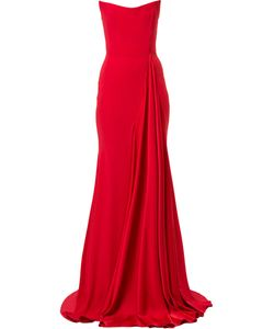 ALEX PERRY | Alex Strapless Draped Gown Women