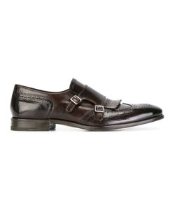 HENDERSON BARACCO | Perforated Detail Monk Shoes 41.5 Calf Leather/Leather