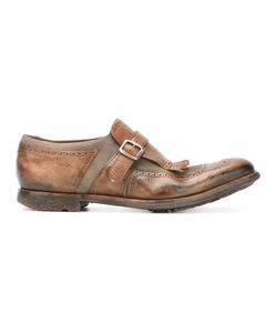 Church'S | Shanghai Glace Brogues Mens Size 6 Calf Leather/Leather/Rubber/Cotton
