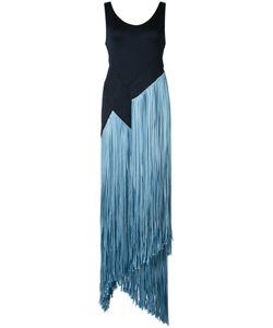 GALVAN | Fringed Long Dress 36 Polyamide/Spandex/Elastane/Viscose