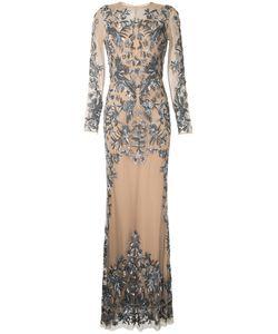 Zuhair Murad | Телесное Вечернее Платье С Блестящей Отделкой
