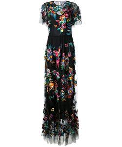 Zuhair Murad   Длинное Платье С Вышивкой