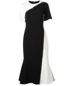 David Koma | Zipped Detail Fla Dress 10 Acetate/Viscose/Spandex/Elastane/Acetate