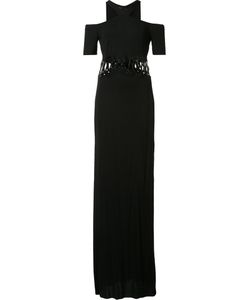 Yigal Azrouel | Cold Shoulder Lace Up Gown 8