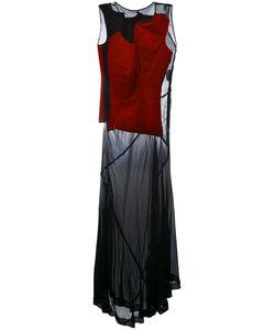 Comme Des Garcons | Длинное Платье С Бархатной Панелью Vintage