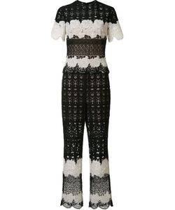 Yigal Azrouel | Two Tone Lace Jumpsuit 0 Polyester