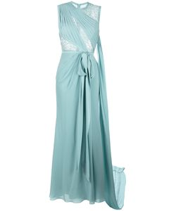 Elie Saab | Lace Trim Long Dress 38 Silk/Nylon/Polyamide