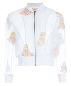 Mikio Sakabe | Embroidered Cat Cropped Jacket