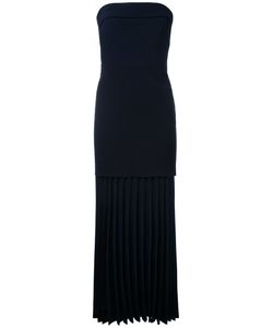 Dion Lee | Linear Pleated Strapless Dress 6 Polyester