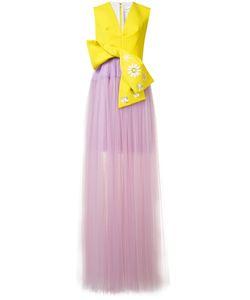 Delpozo   Bicolour Gown 38 Silk/Cotton/Polyamide/Viscose