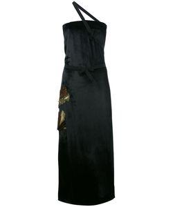 ATTICO | Декорированное Длинное Платье С Одной Лямкой