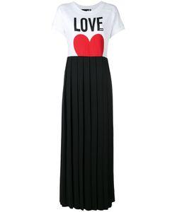 Love Moschino | Платье-Футболка С Плиссированной Юбкой