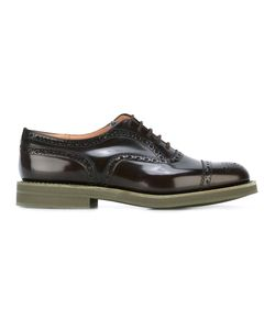Church'S | Brogue Detailed Oxfords 9 Calf Leather/Leather/Rubber