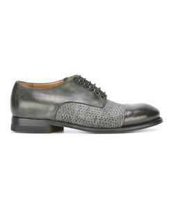 Silvano Sassetti | Woven Derby Shoes 9 Horse Leather/Leather/Rubber