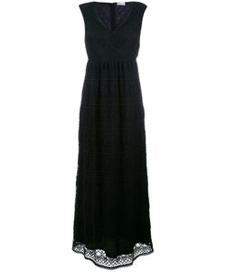 Red Valentino | V-Neck Maxi Dress Large Cotton/Polyamide/Spandex/Elastane/Polyester