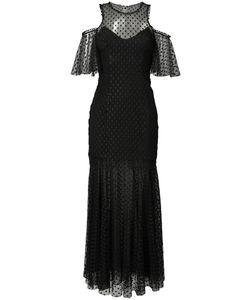 Monique Lhuillier | Прозрачное Платье С Открытыми Плечами