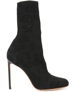 FRANCESCO RUSSO | Perforated Detail Mid-Calf Boots 39 Calf