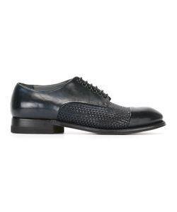 Silvano Sassetti | Woven Derby Shoes 10 Horse Leather/Leather