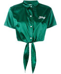 Gcds | Satin Hotel Tie Front Shirt