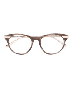Linda Farrow | Round Frame Glasses Acetate/Metal