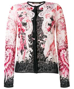 Roberto Cavalli | Lace Fitted Jacket 48 Cotton/Viscose