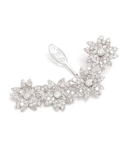 YVONNE LEON | Handmade In S Parisian Workshop This Flower Lobe Earring Is Made From 18k And Studded With Diamonds