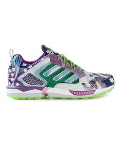 MARY KATRANTZOU X ADIDAS ORIGINALS | Cotton And Leather Print Sneakers From Adidas Featuring A Round Toe A Lace-Up Front Fastening A Geometric Paneled Design A Logo Patch At The Tongue A Pull Tab At The Rear And A Flat Rubber Sole