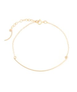 BY BOE | 14kt Filled Sterling Curved Wand Bracelet From