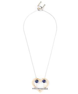 URIBE | -Tone And Lapis Lou Heart Pendant Necklace From