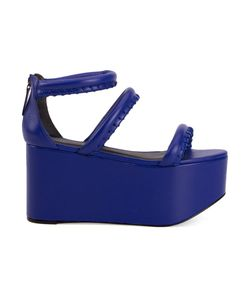 VITORINO CAMPOS | Royal Leather Wedge Sandals From Featuring An Open Toe And A Rear Zip Fastening