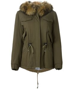 AVA ADORE | Stretch Cotton Wool Blend And Racoon Fur Noah Hooded Parka From