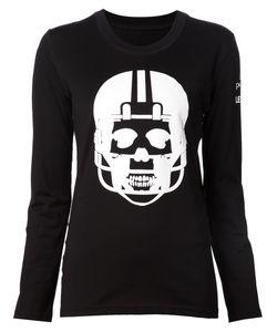 Lucien Pellat-Finet | Cotton Skull Print Long Sleeve T-Shirt From
