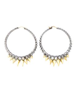Stephen Webster | Rhodium Plated 925 Studded Hoop Earrings From S Superstud Collection Featuring 18kt Plated Spikes And 4kt Posts At 09mm 0