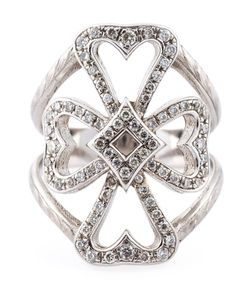 LOREE RODKIN | 18kt Diamond Maltese Cross Ring From Featuring Pave Set Diamonds