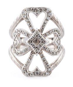 LOREE RODKIN | 18kt Diamond Maltese Cross Ring From Featuring Pave Set Diamonds