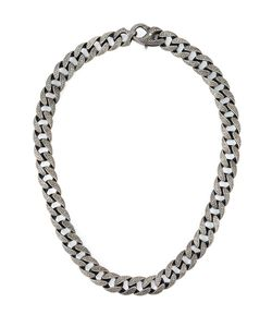 Stephen Webster | 925 Rhodium Chunky Chain Necklace From Featuring A Lobster Claw Fastening A Matinee Length And A Cracked Etched Design