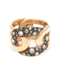 POMELLATO | 18 Karat Diamond Pave Chain Ring From