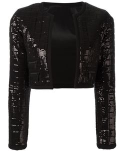Karl Lagerfeld | Sequinned Cropped Jacket 34 Viscose/Spandex/Elastane/Polyester
