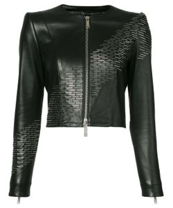 Dsquared2 | Sequin Detail Leather Jacket
