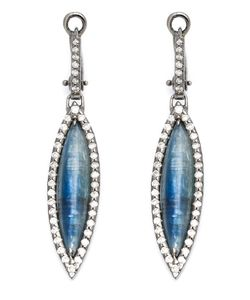 KIMBERLY MCDONALD | 18 Karat Diamond Pave Kyanite Drop Earrings From