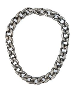 GARRARD | -Tone Rhodium Feather Chunky Chain Necklace From Featuring A Clip On Fastening And A Choker Length