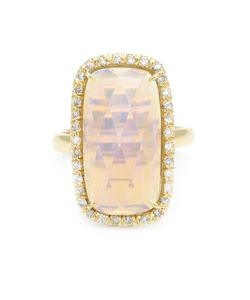 KIMBERLY MCDONALD | Diamond Pavé Opal Ring