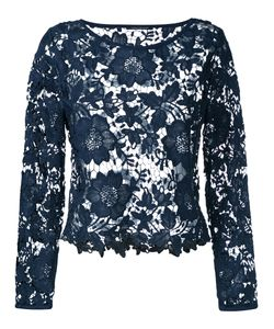 Luisa Cerano   Lace Cut-Out Top
