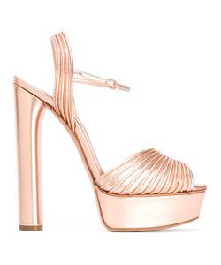 Casadei   Ribbed Platform Sandals